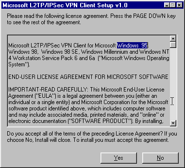 Using a Linux server with the Microsoft L2TP/IPSec VPN Client