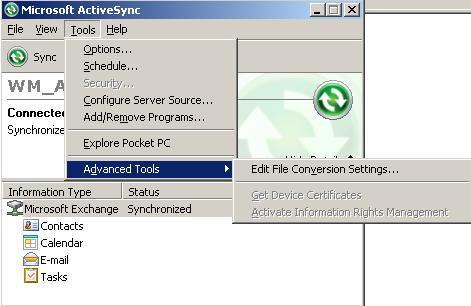 activesync 4.5 windows xp
